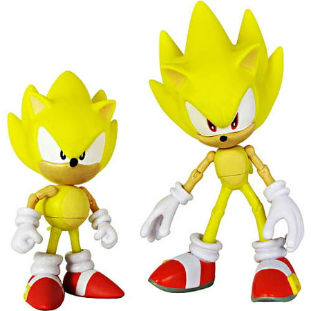 Super Sonic Classic   Super Sonic Modern Action Figure 2 Pack