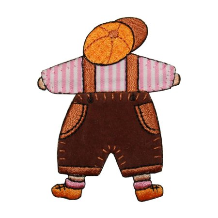 ID 7492 Children Stuffed Doll Patch Old Toy Baby Embroidered Iron On Applique (Iron Dolls)