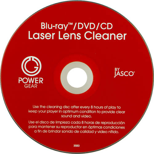 Power Gear Blue Ray/DVD/CD Laser Lens Cleaner