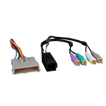metra 70-5510 factory amplifier integration harness for select 1986-2000 ford vehicles