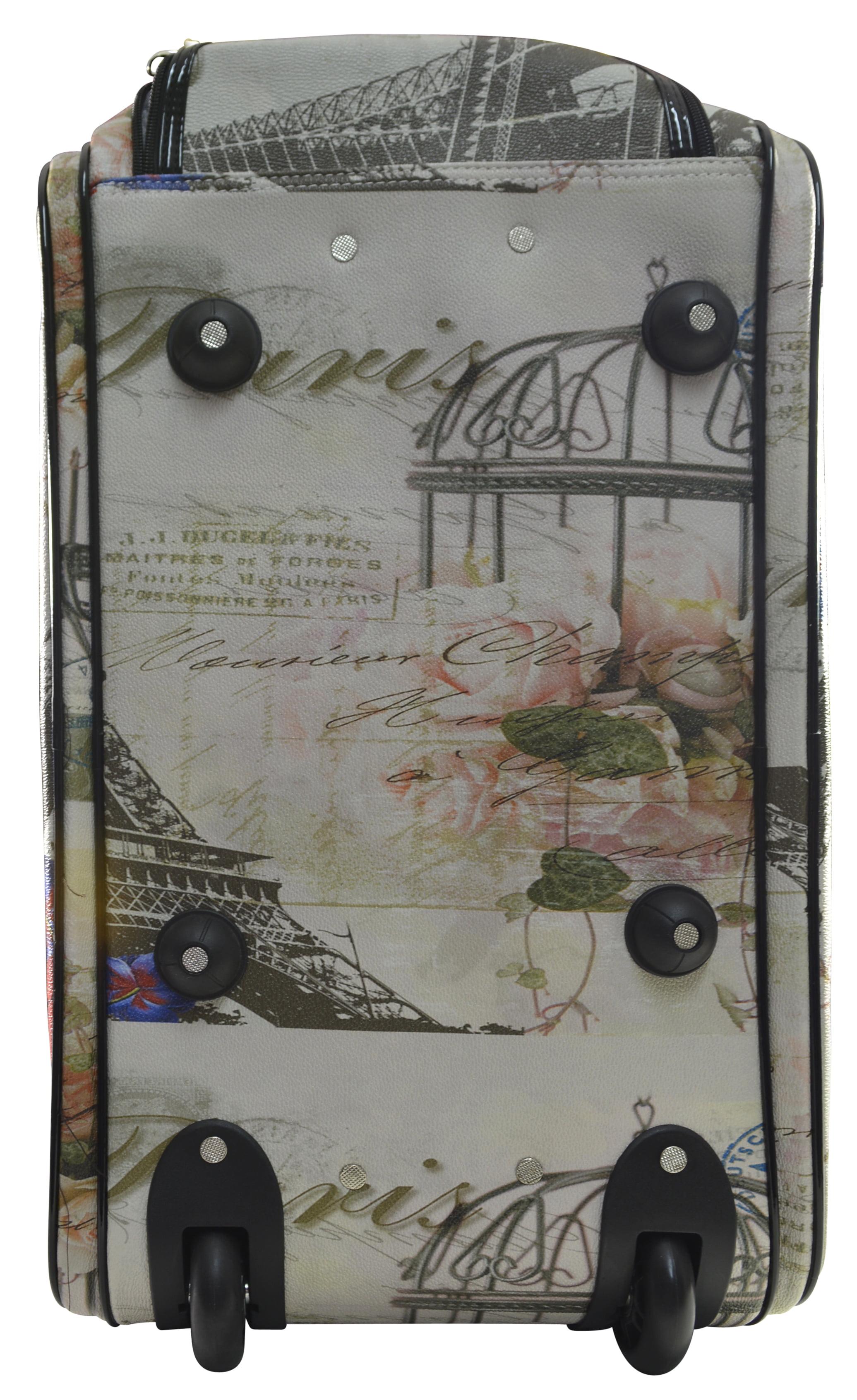 f7d3e0f95d Nima Fashion Paris London City Print Carry On Wheeled Duffle Bag on Wheels ( Paris) - Walmart.com