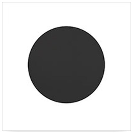 4 inch 2 Sided Black Round Coaster/Case of 500