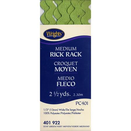 Wrights Medium Leaf Green Rick Rack, 2.5 - Medium Printed Rick Rack