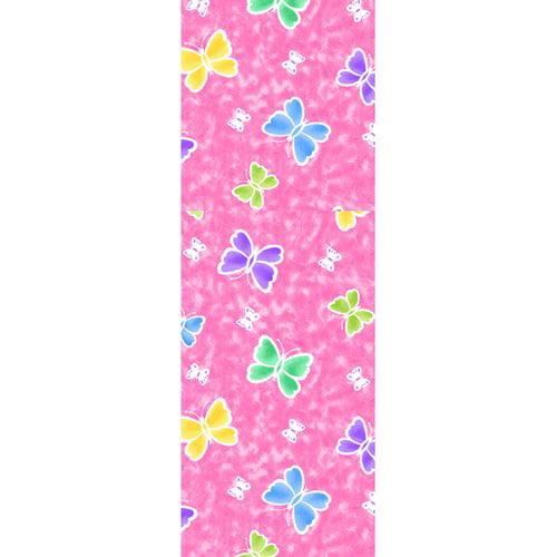 """Butterfly Fleece Fabric, Pink, 31"""" x 11"""""""