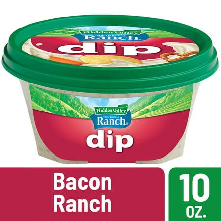 Dilly Dip ((2 Pack) Hidden Valley Ready-to-Eat Dip, Bacon Ranch - 10 Ounces )