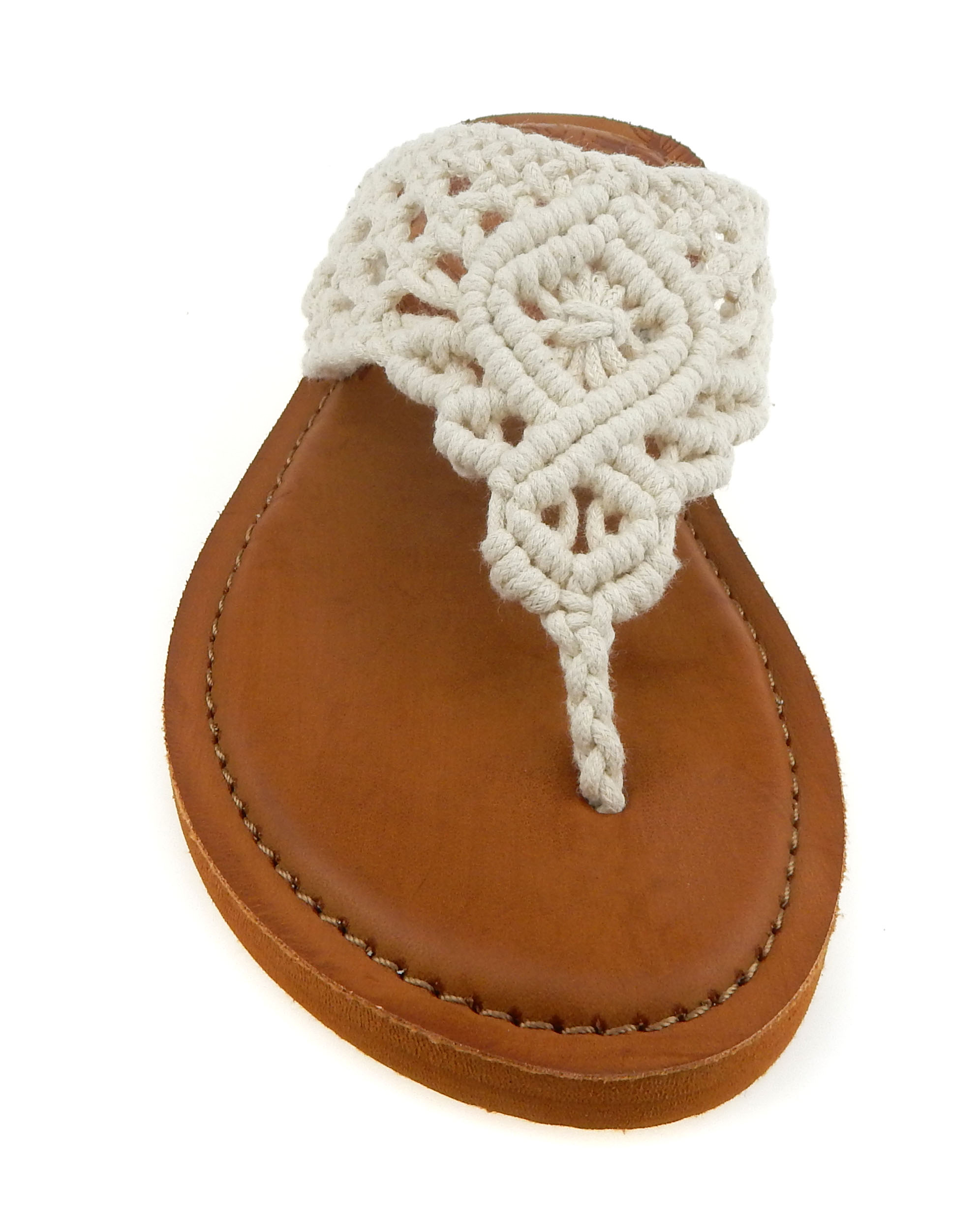classic fit durable service best selling Time and Tru Women's Crochet Flip Flop
