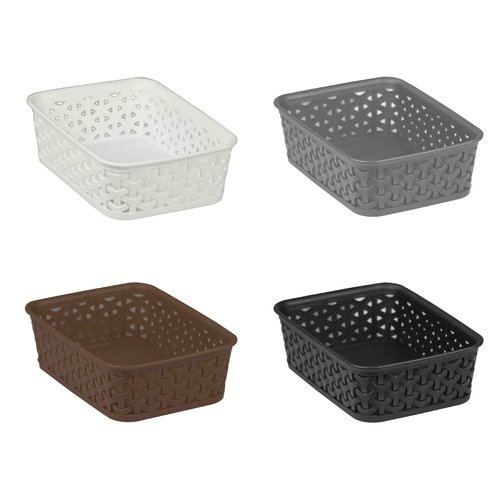 Home Basics Plastic Storage Basket