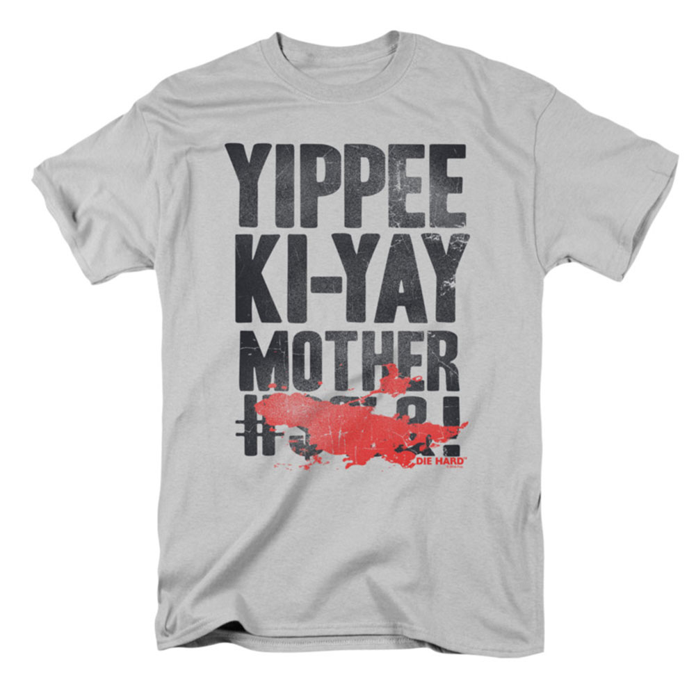 Die Hard Men's  Yippee T-shirt Silver