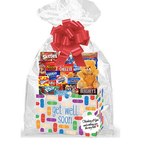 - Get Well Soon Bandaid Thinking Of You Cookies, Candy & More Care Package Snack Gift Box Bundle Set - Arrives in 3-4Business Days