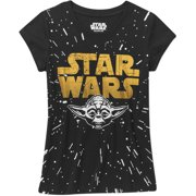 Star Wars-lucas Star Wars Girls' Yoda Head Short Sleeve
