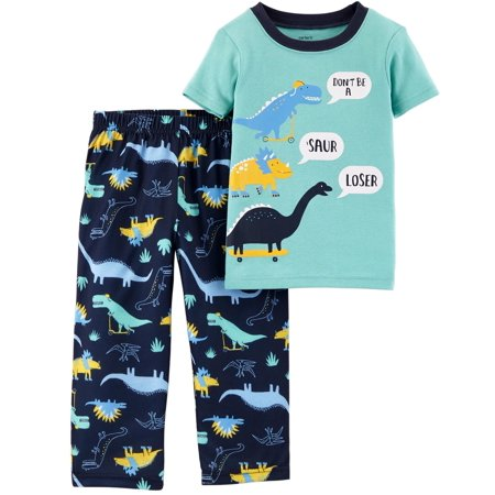 Carter's Little Boys' 2-Piece Dino Cotton & Poly PJs for $<!---->