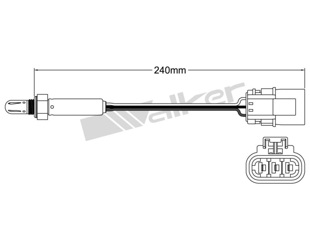 Walker Products 250-23502 Oxygen Sensor