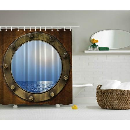 Ship Porthole (Ship Porthole Shower Curtain Extra Long 84)