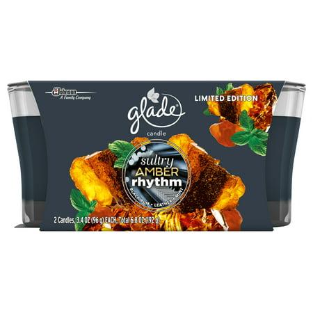 Glade® Jar Candle Air Freshener Limited Edition, Sultry Amber Rhythm, 2 ct, 6.8 -