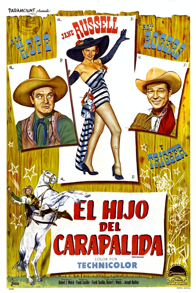 Roy Rogers 2 SON OF PALEFACE MOVIE POSTER Bob Hope