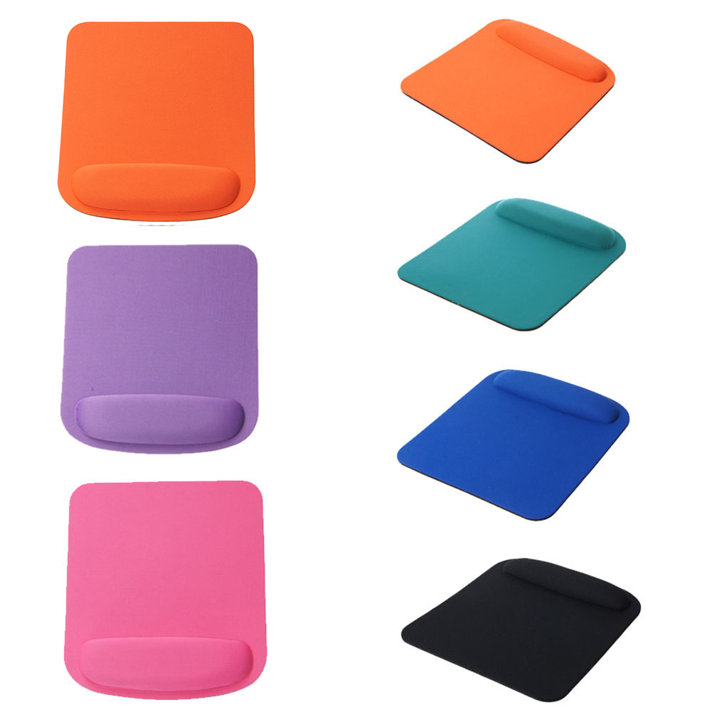 Girl12Queen Anti-Slip Solid Color Square Mouse Pad Soft Wrist Rest Design PC Gaming Mousepad