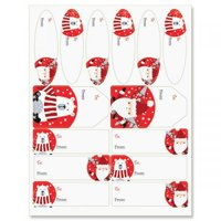 Ho Ho Santa Gift Labels- Set of 42 of Gift Labels in 3 Shapes and Sizes
