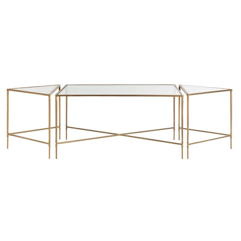 Arterior Homes Alice Coffee Table Set of 3 by