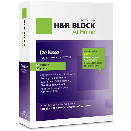 H&R Block at Home 2012 Deluxe+State