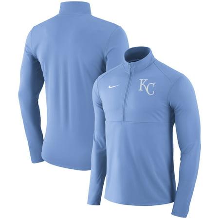 Kansas City Royals Nike Dry Element Half-Zip Performance Pullover - Light (Nike Sphere Dry)
