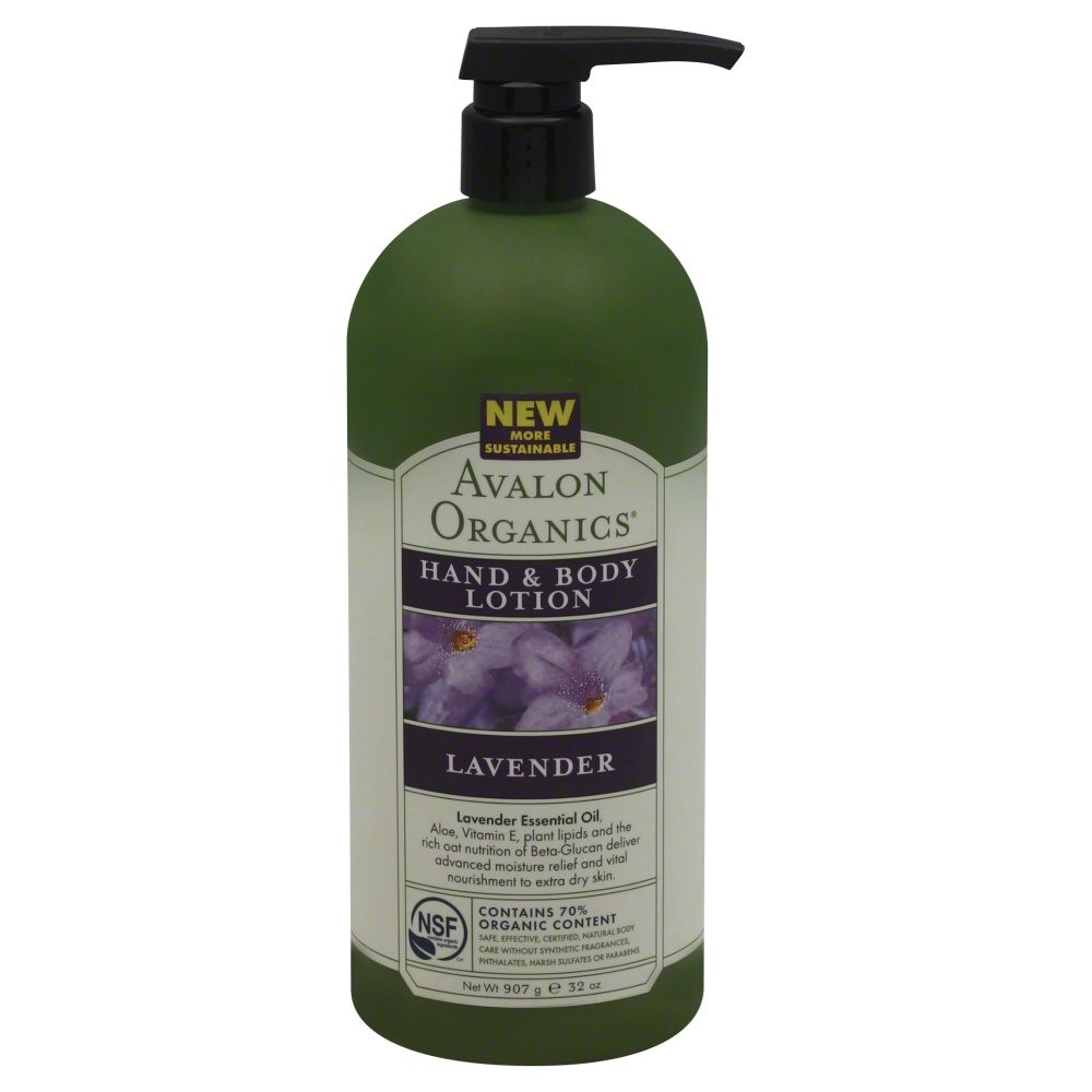 Avalon Organics Hand & Body Lotion, Lavender, 32 Oz