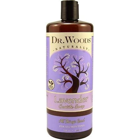 Dr. Woods Castile Soap Soothing Lavender - 32 fl - Smoothing Bar