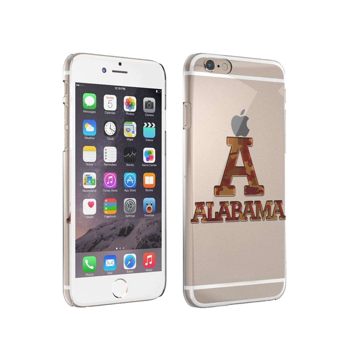 KuzmarK iPhone 6 Plus Clear Cover Case - Alabama Red Camouflage