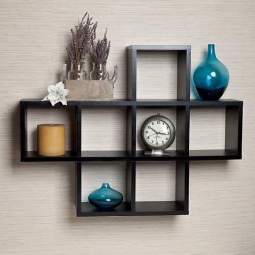 Danya B  XF11056  Wall Decor  Home Decor  Shelves  ;Black