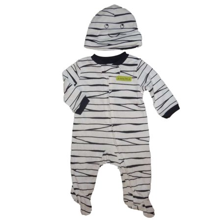 Carters Infant Unisex 2 PC Mummy Halloween Sleeper & Cap Sleep & Play Pajamas 3m](Carters Halloween)