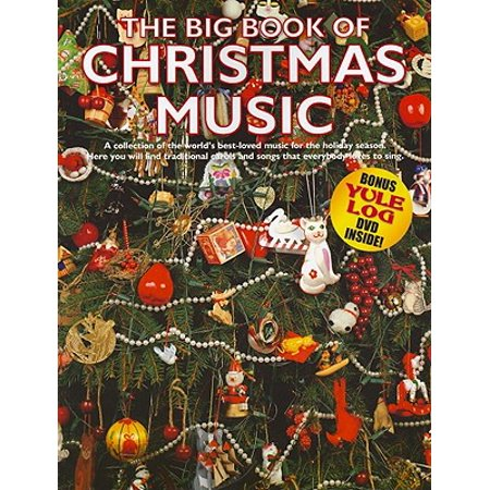 Big Book of Christmas Music with Yule Log DVD: P/V/G Songbook (Other) ()