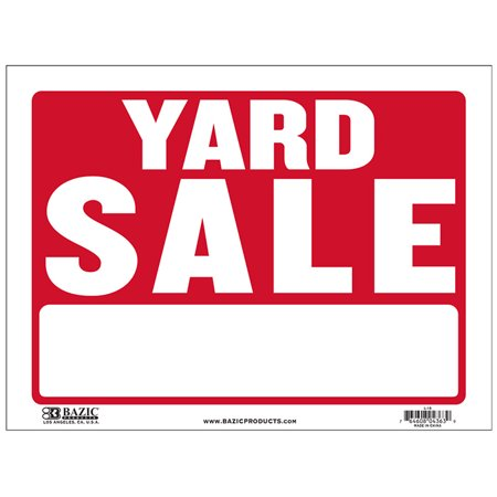 New 402464   12 Inch X 16 Inch Yard Sale Sign (24-Pack) Signs Cheap Wholesale Discount Bulk Stationery Signs River Stones