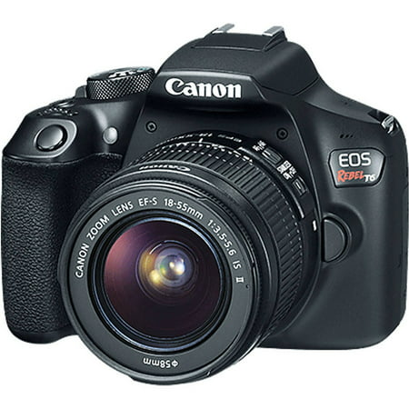 Black EOS Rebel T6 EF-S IS Digital Camera with 18 Megapixels and 18-55mm Lens