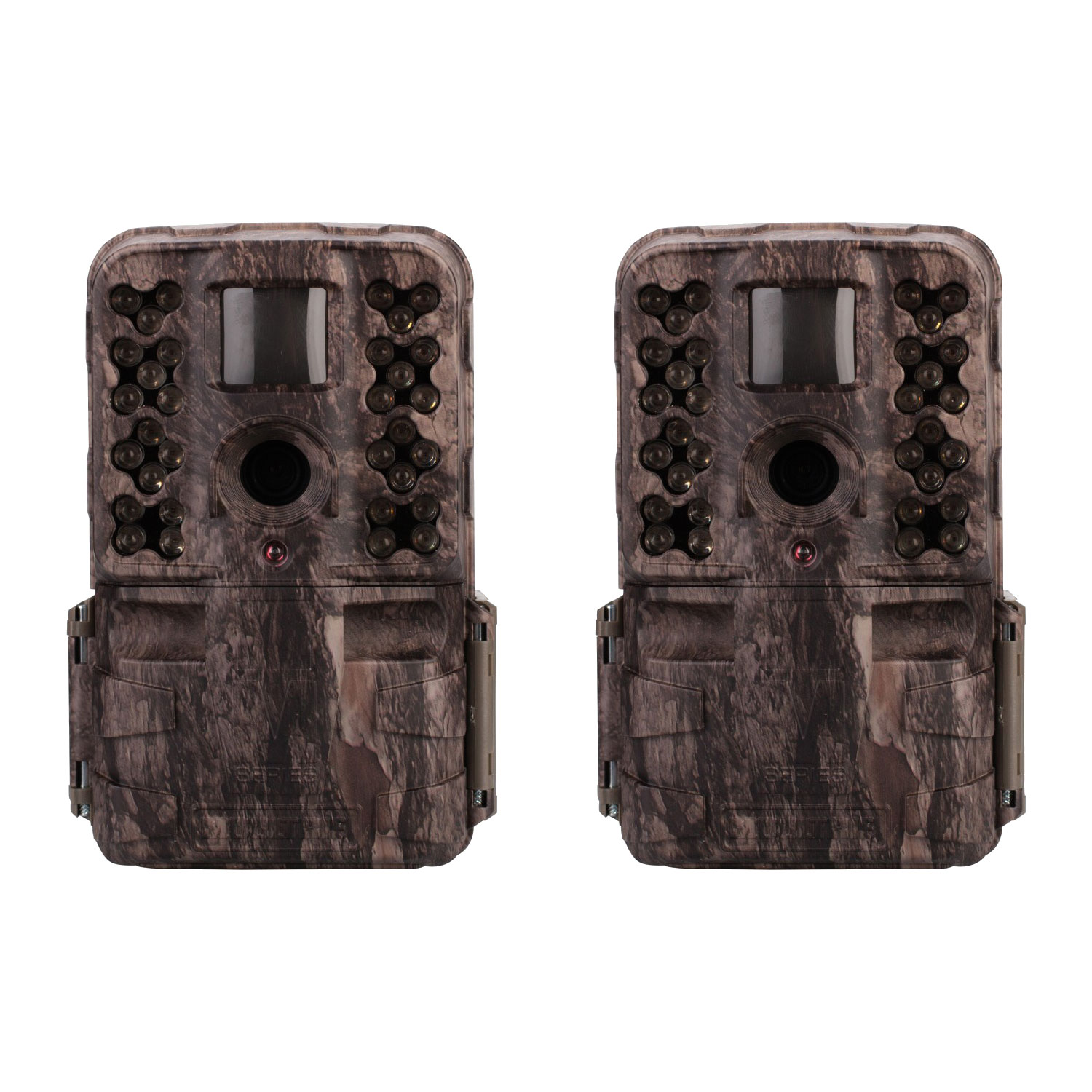 Moultrie M-50i 20MP No Glow Invisible IR Game Trail Camera, Pine Bark (2 Pack)