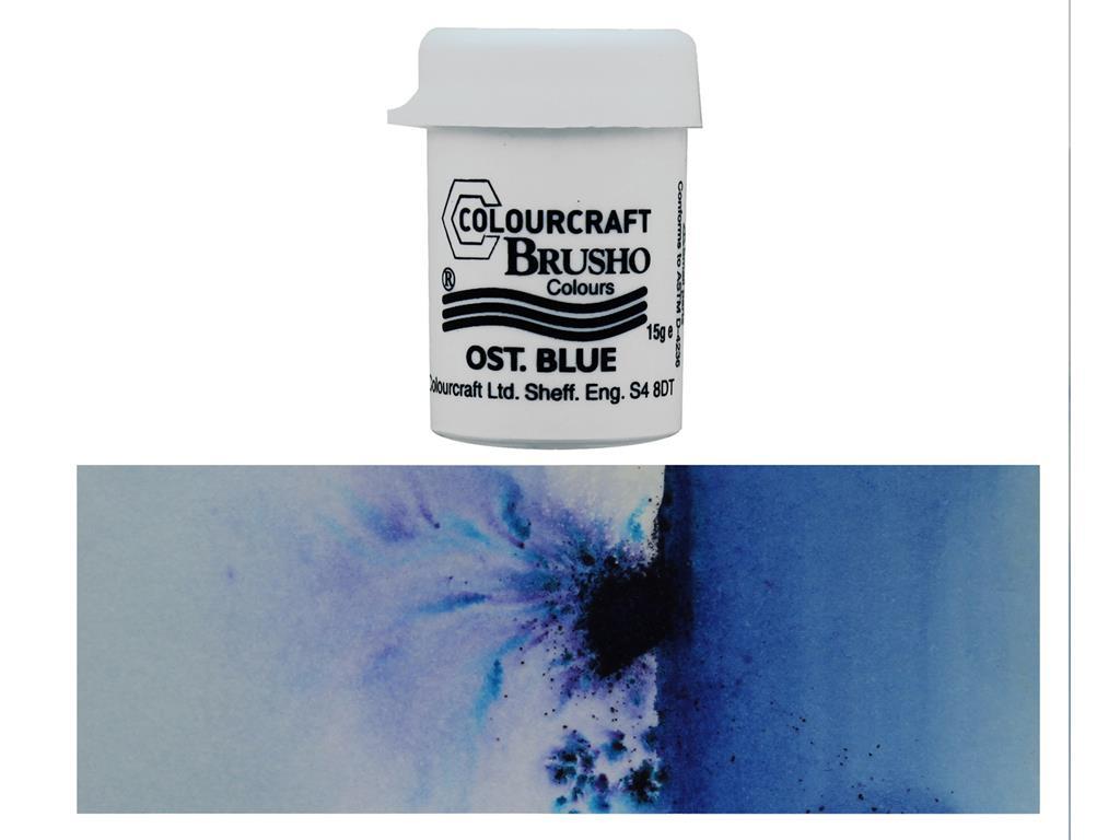 Blue Brusho Crystal Colour 15g-Ost BRB12-OB
