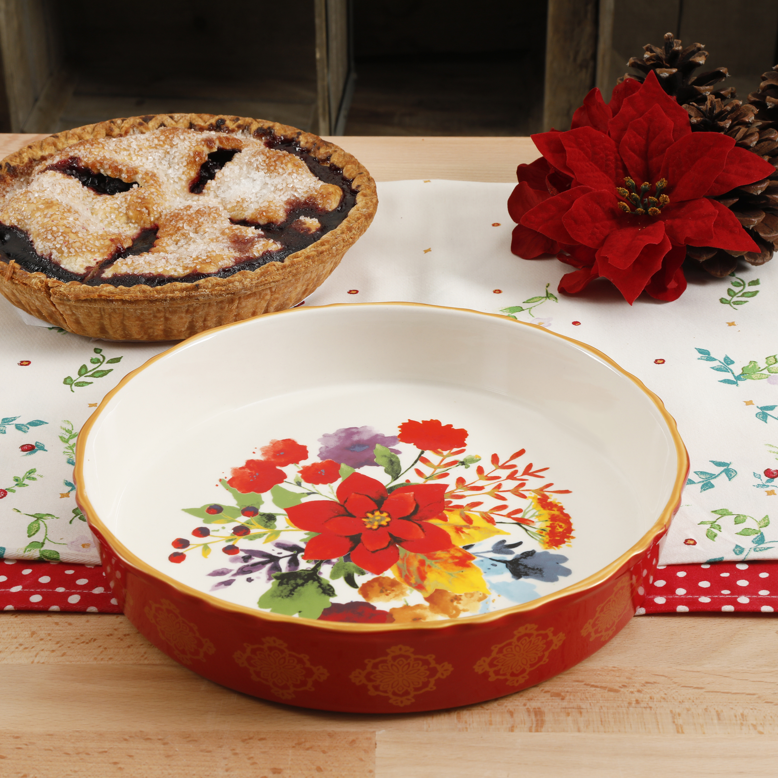 Walmart: The Pioneer Woman Winter Bouquet 10-Inch Pie Pan Only $8.88