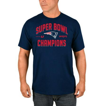 Nfl New England Patriots Super Bowl Li Champion Arch Mens Short Sleeve Shirt