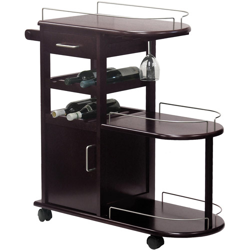 Wood Entertainment Cart, Espresso