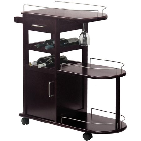 Wood Entertainment Cart  Espresso