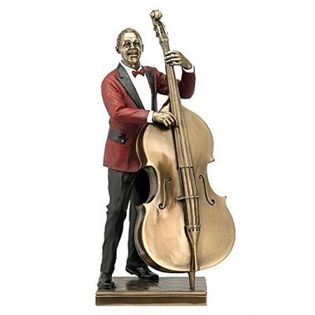Jazz Double Bass (DOUBLE BASS PLAYER Bronze Statuette JAZZ BAND Collection, 13.25