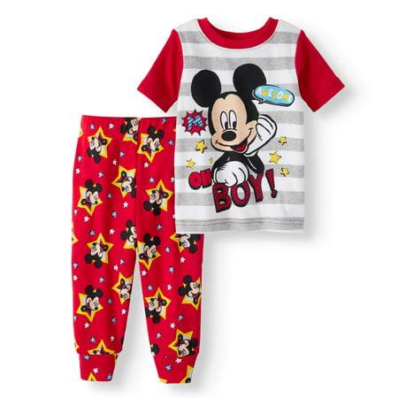 802869418 Mickey Mouse - Newborn Baby Boy Cotton Tight Fit Pajamas