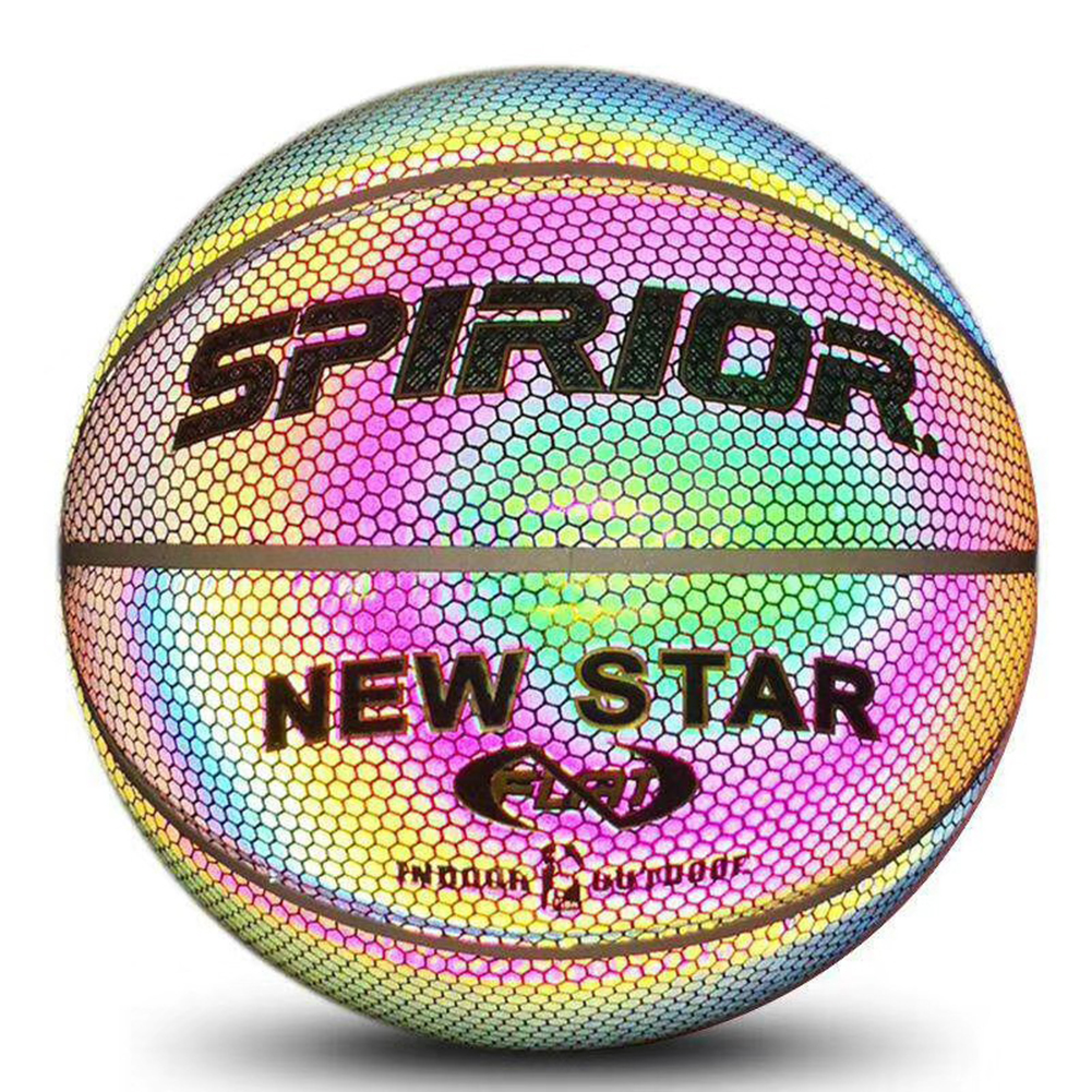 Holographic Basketball Glowing Reflective//Luminous NO.7 for Night Sports Gifts
