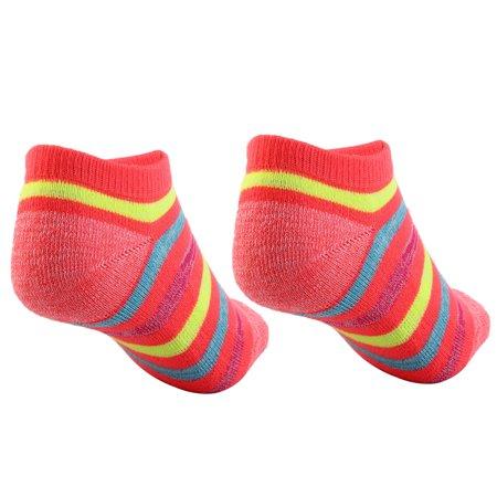 Boy Badminton Elastic Quarter Stockings Cushioned Sport Ankle Socks Pink Pair - image 4 de 5