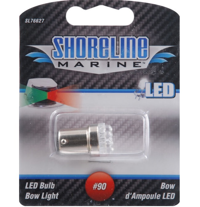 Shoreline Marine SL76627 LED Replacement #90 Bulb (Fits All Bow Lights)