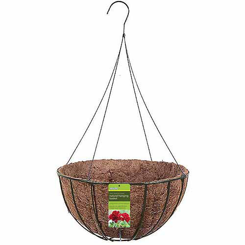 "World Source Partners R421 14"" Black Wire Grower Basket"