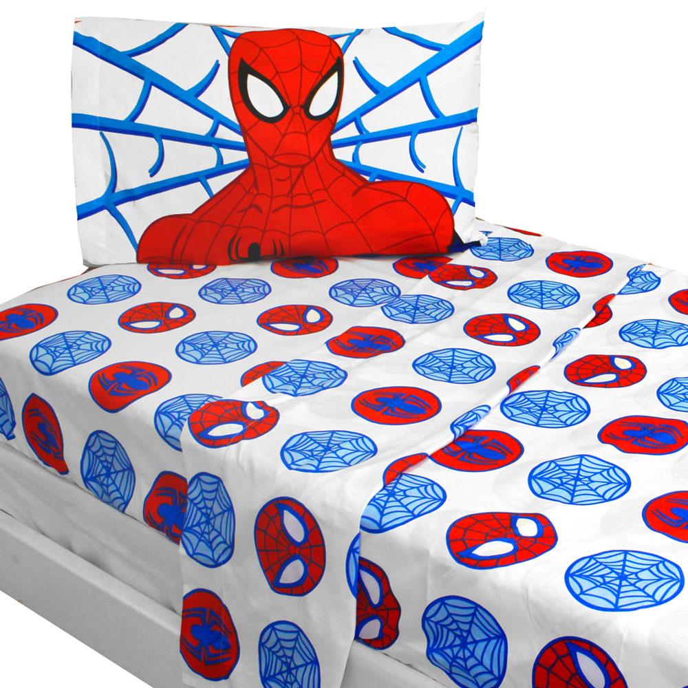 Marvel Comics Spiderman Bed Sheet Set Bold Spider-Man Bedding Accessories
