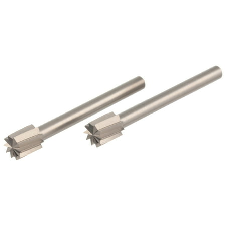 Dremel 196 7/32 inch Grooved Rectangle Tipped High Speed Cutter for Wood, Plastic, and Soft Metals, 2-Pack ()
