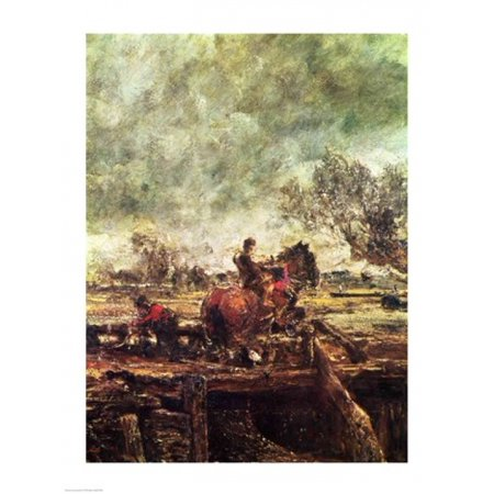 Leaping Horse (Study for The Leaping Horse Canvas Art - John Constable (18 x 24) )