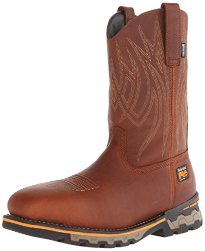 Timberland PRO Men's AG Boss Pull-On Alloy SQ Toe Work and Hunt Boot, Red Brown Full Grain Leather, 8.5 M US by Timberland PRO