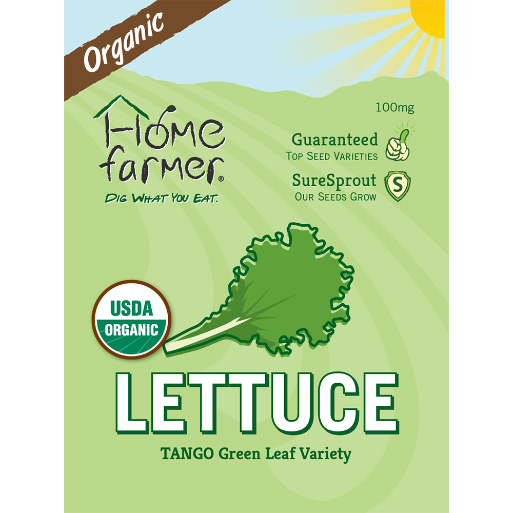 Organic Green Leaf (Tango) Seed Packet