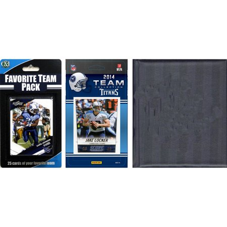 C&I Collectables NFL Tennessee Titans Licensed 2014 Score Team Set and Favorite Player Trading Card Pack Plus Storage Album